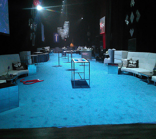 Event With Blue Carpeting
